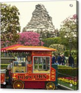 Matterhorn Mountain With Hot Popcorn At Disneyland 01 Acrylic Print