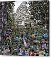 Matterhorn Mountain With Tea Cups At Disneyland Acrylic Print