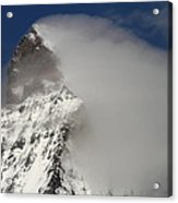 Matterhorn Peak Shrouded In Clouds Acrylic Print by Jetson Nguyen