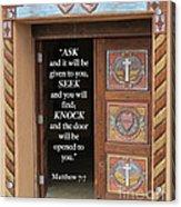 Matthew Seven Seven Acrylic Print
