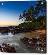 Maui Cove - Beautiful And Secluded Secret Beach. Acrylic Print