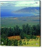 Maui Hawaii Upcountry View Acrylic Print