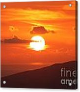 Maui Kulamalu Sunset 3 Acrylic Print
