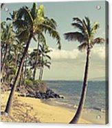 Maui Lu Beach Hawaii Acrylic Print