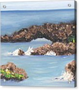 Maui Rock Bridge Acrylic Print