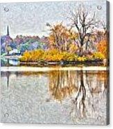 Maumee River Looking Toward Perrysburg Acrylic Print