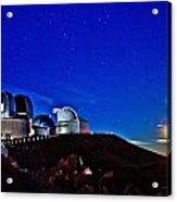 Mauna Kea At Moon Rise Acrylic Print