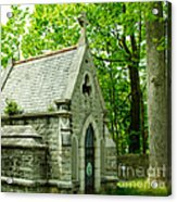 Mausoleum In Cemetery Acrylic Print