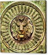Mausoleum Lion Acrylic Print