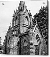 Mausoleum New England Black And White Acrylic Print