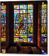 Mausoleum Stained Glass 01 Acrylic Print