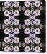 Mauve Beauty Pattern Acrylic Print