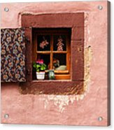 Mauve Wall And Window In Alsace France Photograph By Greg