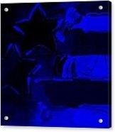 Max Americana In Blue Acrylic Print