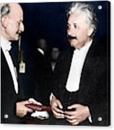 Max Planck And Albert Einstein Acrylic Print