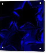 Max Two Stars In Blue Acrylic Print