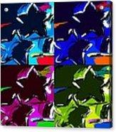 Max Two Stars In Pf Quad Colors Acrylic Print