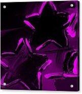 Max Two Stars In Purple Acrylic Print