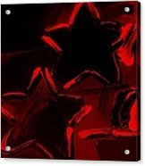 Max Two Stars In Red Acrylic Print