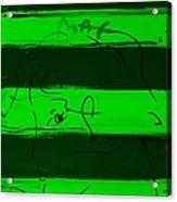 Max Woman In Green Acrylic Print