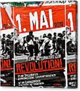 May Day 2012 Poster Calling For Revolution Acrylic Print