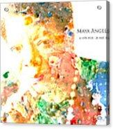 Maya Angelou 1 Acrylic Print