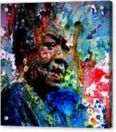Maya Angelou Paint Splash Acrylic Print