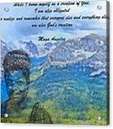 Maya Angelou Tribute Acrylic Print