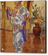 Maya Woman-mexico V2 Acrylic Print
