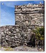 Mayan Building At Tulum Acrylic Print