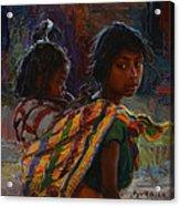 Mayan Colors Acrylic Print