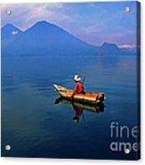 Mayan Fisherman Guatemala Acrylic Print