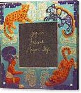 Mayan Jaguar Frame Acrylic Print by Charles Lucas
