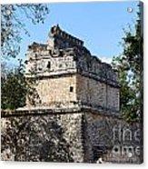 Mayan Ruin At Chichen Itza Acrylic Print