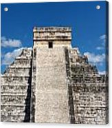 Mayan Temple Pyramid At Chichen Itza Acrylic Print