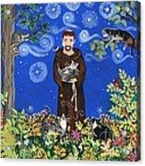 May's St. Francis Acrylic Print by Sue Betanzos