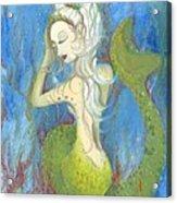 Mazzy The Mermaid Princess Acrylic Print