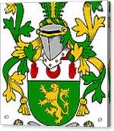 Mccartan Coat Of Arms Irish Acrylic Print