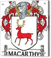 Mccarthy Coat Of Arms Cork Ireland Acrylic Print