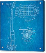 Mccarty Gibson Les Paul Guitar 2 Patent Art 1955 Blueprint Acrylic Print