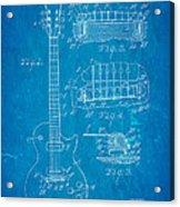 Mccarty Gibson Les Paul Guitar Patent Art 1955 Blueprint Acrylic Print