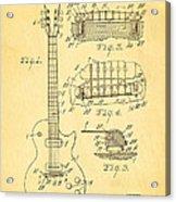 Mccarty Gibson Les Paul Guitar Patent Art 1955 Acrylic Print