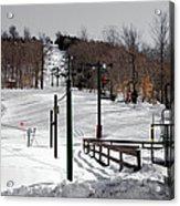 Mccauley Mountain Ski Area Vi- Old Forge New York Acrylic Print