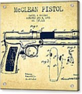 Mcclean Pistol Drawing From 1903 - Vintage Acrylic Print