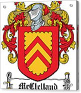 Mcclelland Coat Of Arms Ulster Ireland Acrylic Print