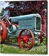 Mccormick Deering Red-wheeled Tractor Acrylic Print