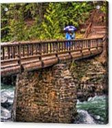 Mcdonald Creek Bridge Acrylic Print