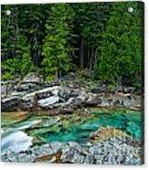 Mcdonald Creek In Glacier National Park Acrylic Print