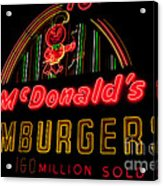 Mcdonalds Sign Acrylic Print
