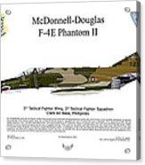 Mcdonnell Douglas F-4e Phantom II Acrylic Print